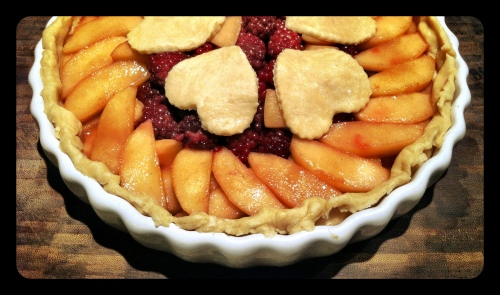 Blackberry and Apple Tart