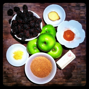Blackberry and Apple Tart Ingredients