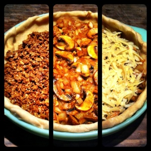 Vegetarian Taco Pie Layers