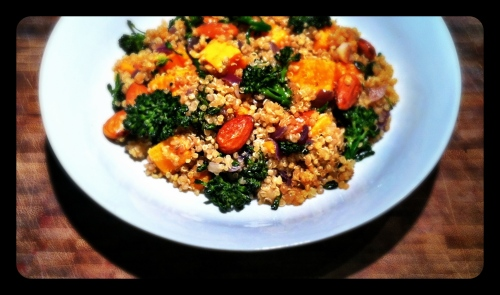 Quinoa with Sweet Potato and Broccoli