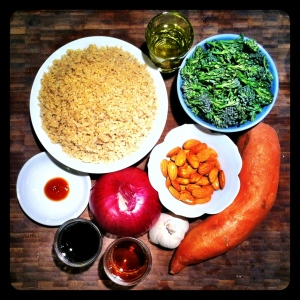 Quinoa with Sweet Potato and Broccoli Ingredients