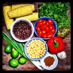 Fiesta Salad Ingredients
